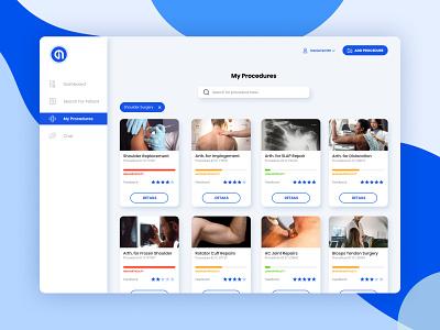 Medical Consenting Platform dashboard health doctor medicine design logo vivid clean ux ui medtech web medical