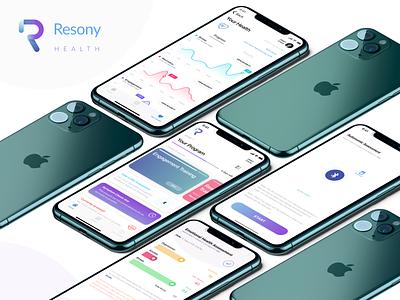 Resony - Mental Health App ux vivid ios cbt mental health clean design health app app medtech health