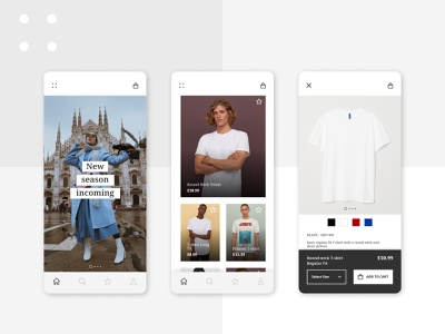 Fashion Mobile App fashion design fashion brand app development ux ui clean fashion app clothing design uxui design fashion