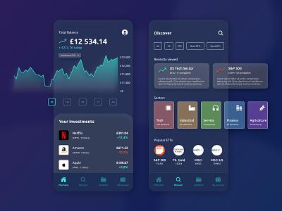 Trading Platform trading platform business finance business financial app financial dark theme dark mode app design android ios development clean finance app finance trading trading app