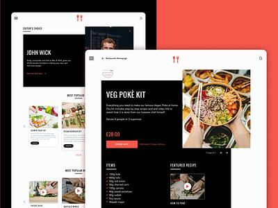 Restaurant Order App vegetable meal foodie red restaurant foodanddrink order food uxui web development clean app ux ui design