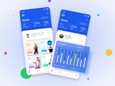 Fitness Mobile App exercise health fit design clean uiux uxui mobile app mobile fitness fitness app