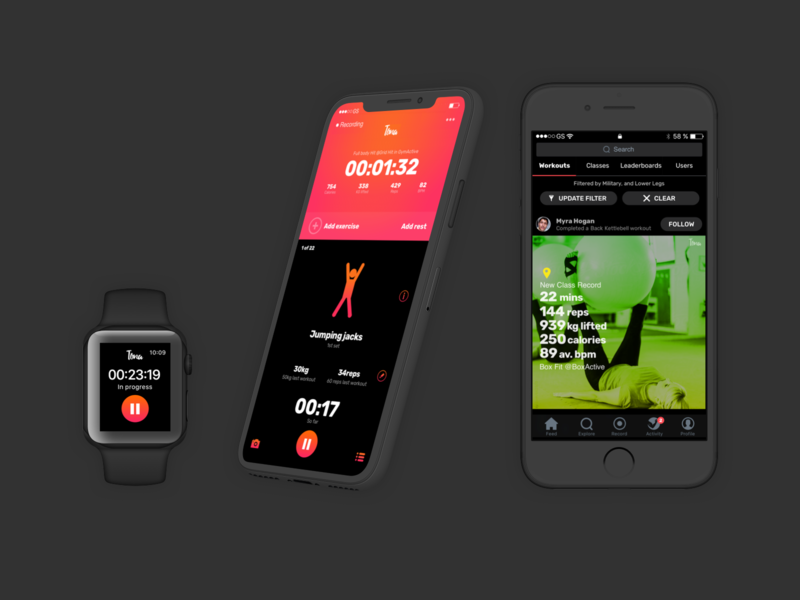 Fitness Tracking App filters network social fitness app fitness apple watch ios app development ux