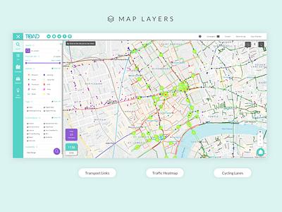 TOAD - OOH Advertising Platform advertisement advert startup angular map marker traffic transport development business professional filters map illustration web ui design
