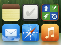 iOS icons without default highlight