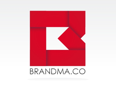 Brandma.co Logo logo mark monogram red fold brand brandma