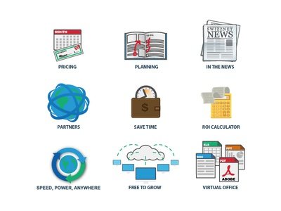 Spot Illustrations for Swizznet spot illustrations swizznet pricing planning news time roi calculator growth virtual office