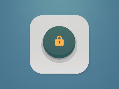 Isolation Icon isolation icon app button lock padlock emergency