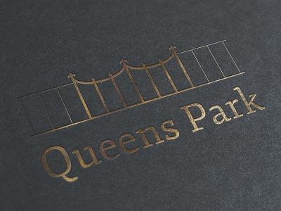 Queens Park queens park gate fence logo crown jewels gold