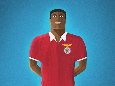 Eusébio benfica portugal eusébio football soccer illustration g2 magazine the guardian