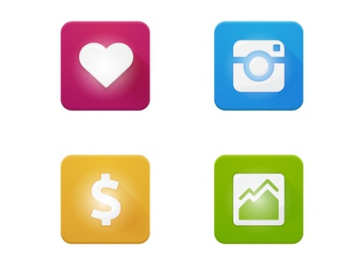 Print Icons print icons instagram social heart like dollar money picture image
