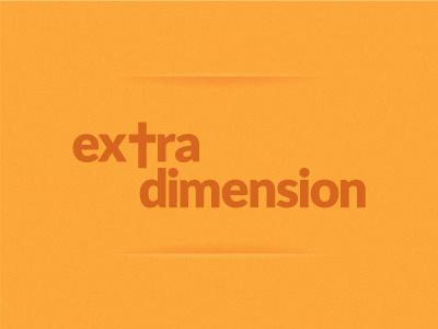 Extra Dimension extra dimension cross church god jesus religion religious logo