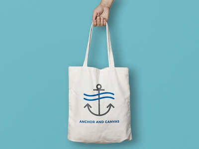 Anchor & Canvas logo ocean river hudson sea canvas anchor