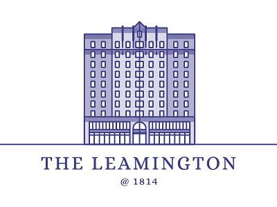 The Leamington 1814 block office illustration logo building ca oakland 1814 leamington the