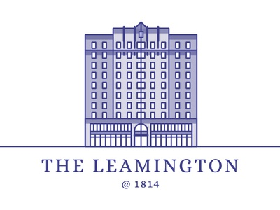 The Leamington 1814 block office illustration logo building ca oakland 1814 leamington the