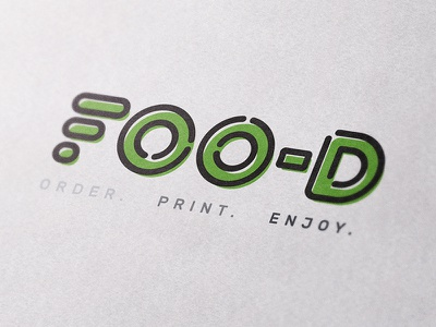 Foo-D Branding technology restaurant healthy tagline slogan logo branding printing 3d food fast