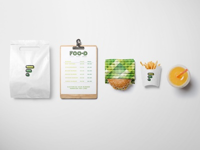 Foo-D Branding technology tagline slogan restaurant printing logo healthy food fast branding 3d