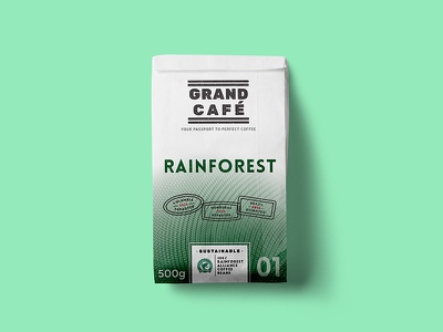 UCC Coffee Rebrand certified fair-trade packet bag stamp passport travel rainforest packaging rebrand coffee ucc