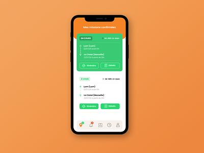 Delivery - UI app design design ux ui mobile app design mobile ui mobile