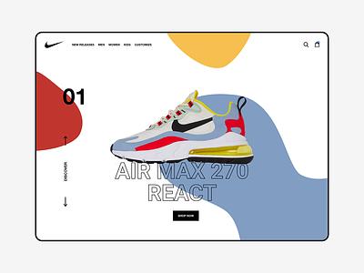 Nike Air Max 270 - Redesign nike air nike air max nike branding webdesign website web ux ui design