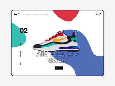 Nike Air Max 270 - Redesign   Rebound vector design nike air max nike air nike website webdesign web ux ui