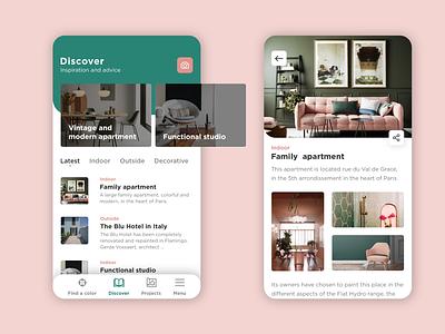Cromology - App   Rebound design app sketchapp mobile ui interface mobile interior design app design ux ui