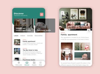 Interior design app - Rebound
