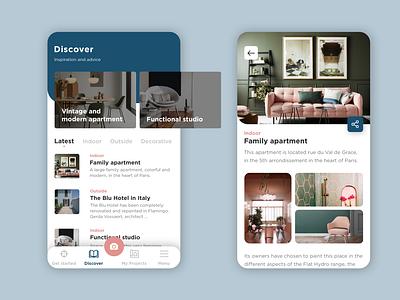 Cromology - UI/UX   Rebound2 decoration interior designer interior editorial design editorial interior design article app design app ux ui design