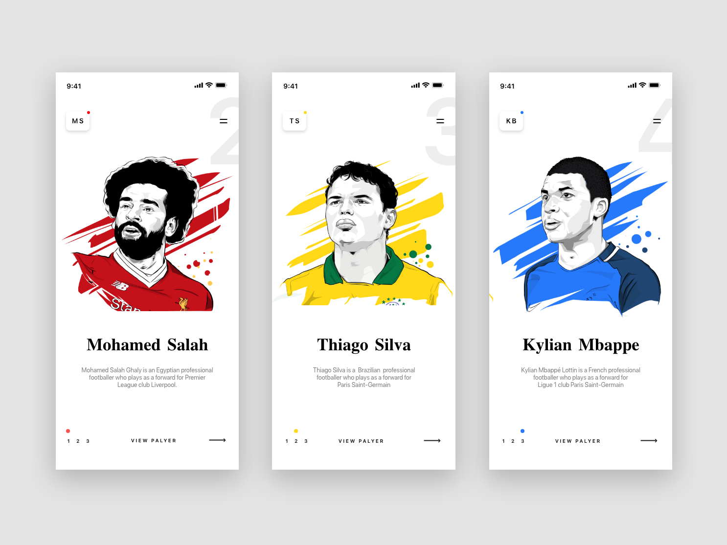 World Top Footballer sketch character typography gif icons art web minimal illustrator clean brand website icon branding app animation ux ui illustration design