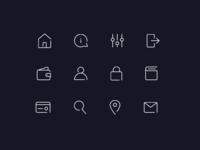 Minimalistic Icons - Ride App