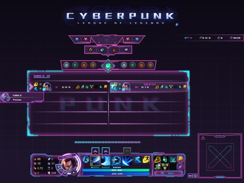League of Legends CyberPunk UI ui