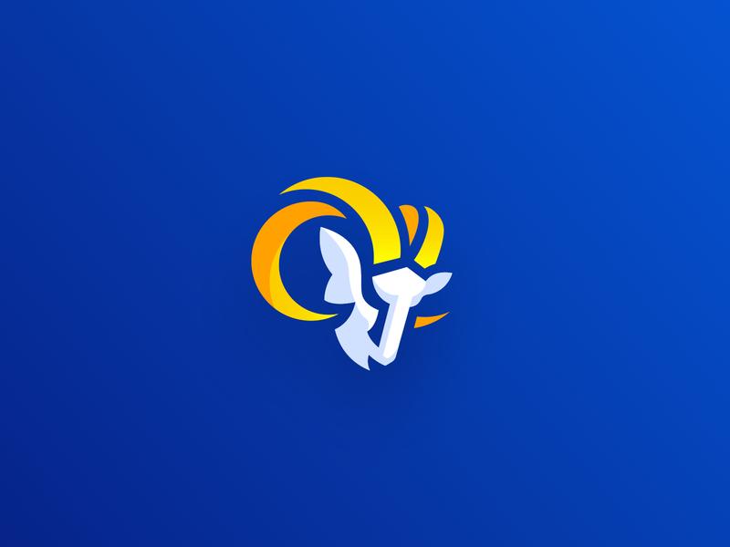 "Alternate Version of the new ""LA RAMS"" logo team mascot brand and identity corporate creative design identity branding brand logo"