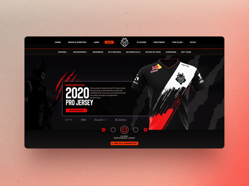 Landing Page Concept for 'g2esports.com' creative gaming corporate landing page landingpage ux  ui uxdesign ui uxui ux design esports identity branding