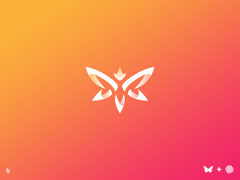 Butterfly Logo V2 vector brand and identity corporate creative design identity branding brand logo