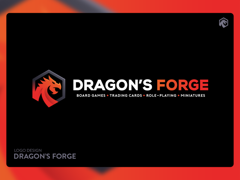 "Logo Design for ""Dragon's Forge"" vector gaming brand and identity corporate creative design identity branding brand logo"