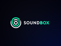"""Clean Speaker Logo for imaginary company called """"Soundbox"""""""