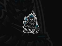 """Dark Fire Samurai"" - Mascot Logo"