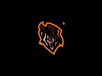 """ wild west mercenary "" - mascot logo"