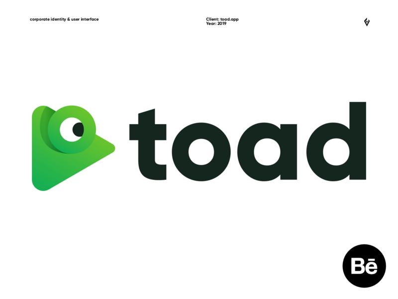 toad.app - LOGO DESIGN app typography vector creative corporate identity ux ui branding brand logo