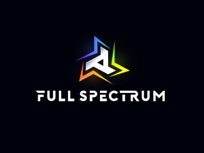 "Logo for ""Full Spectrum ESA"" team brand and identity creative corporate design identity esports branding brand logo"