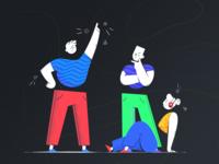 Audiobook App - Illustration design books story procreate ui clean characters illustration