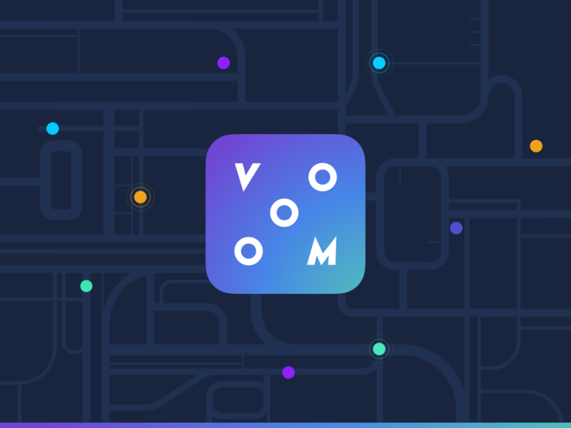 Vooom - Logo graphic graphic design vooom mobility maps gradient design branding logo