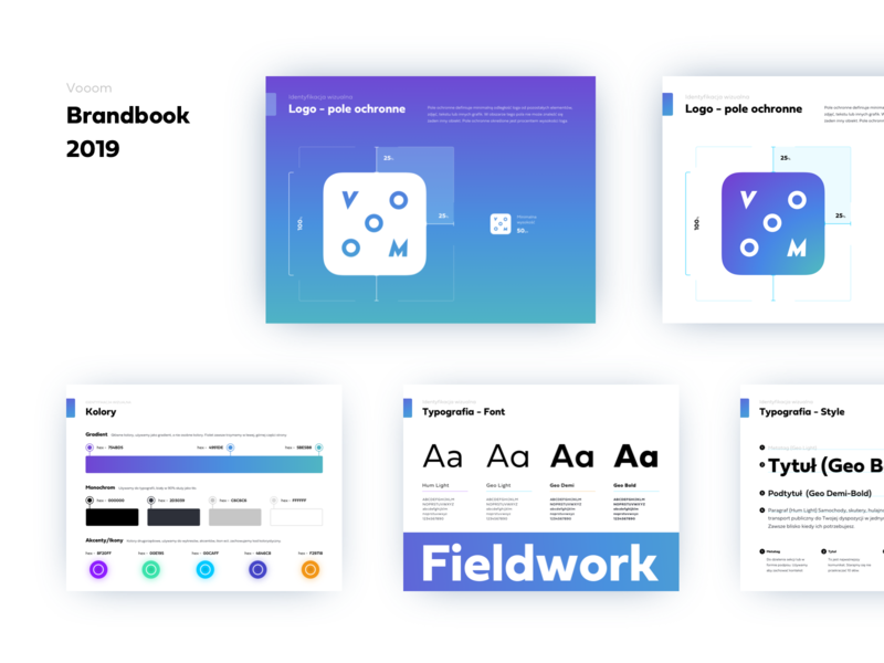 Vooom - Brandbook presentation brandbook typography logo branding design