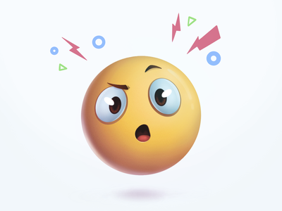 emoji - shocker emotion emojis suprized design story clean procreate 3d painted emoji illustration