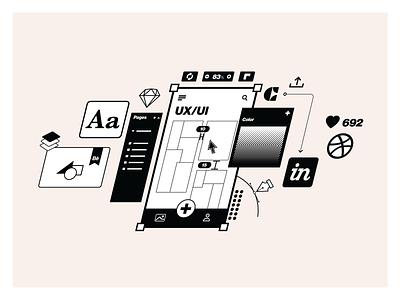 App'n'roll – services illustrations pixel perfect craft dribbble sketch linear mobile develpment ui ux services branding illustrator clean illustration