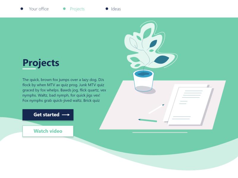 Projects work illustrations cta projects flower illustraion website web webdesign