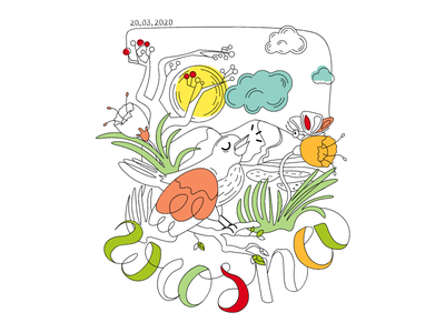 coloring book simple coloring book colors color spring illustration