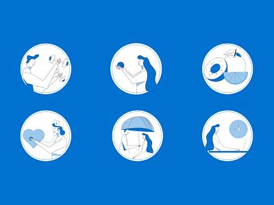 Benefits benefit design people web illustration
