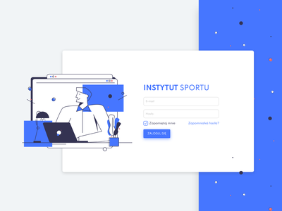 Institute of Sport design people creation web illustrator sign in