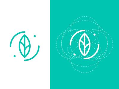 B-Eco Logo ration golden ration eco leaf golden circle logo